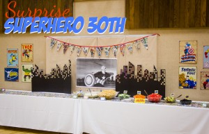 Superhero 30th birthday Title