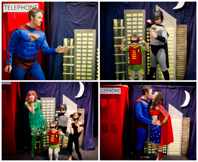 superhero photobooth fun