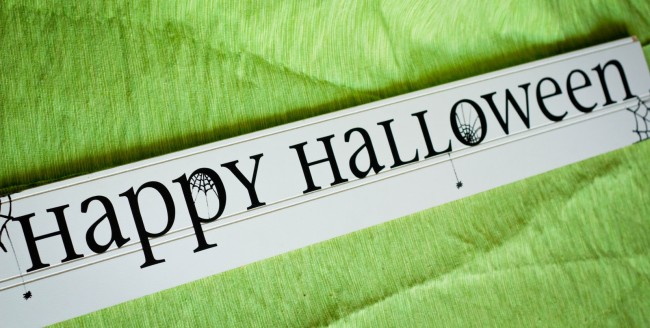 Easy Halloween Spider Sign