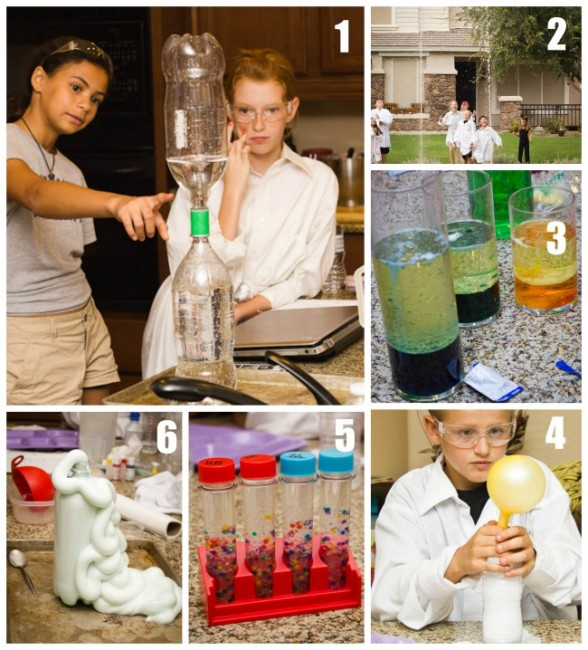 Science Experiment Collage