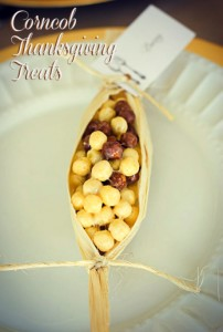 Corncob Treats for Thanksgiving Placecards
