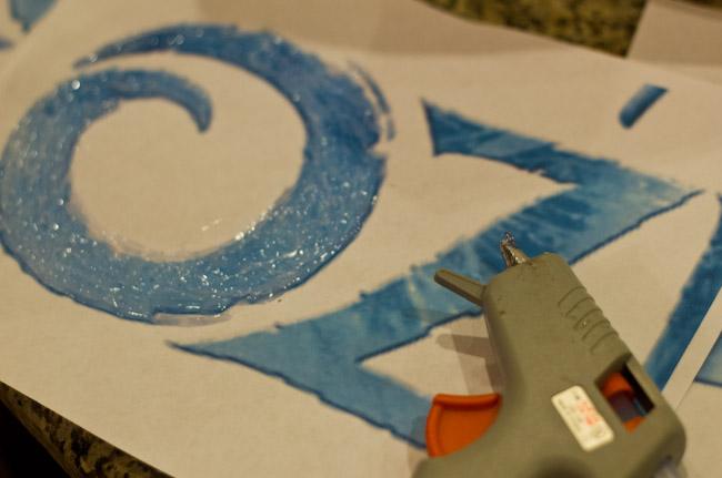 FROZEN logo letters DIY-9986