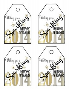 Sparkling New Year Tags 2014-Free Printable