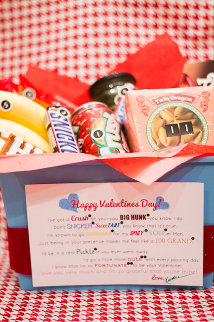 Valentines Snack Basket printable