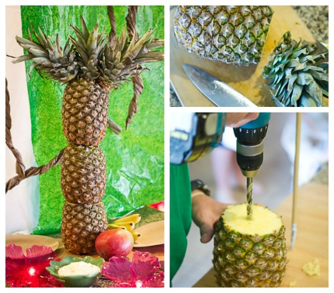 Pineapple palm tree DIY