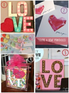 Valentine candy heart collage