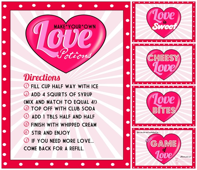 game of love printable collage