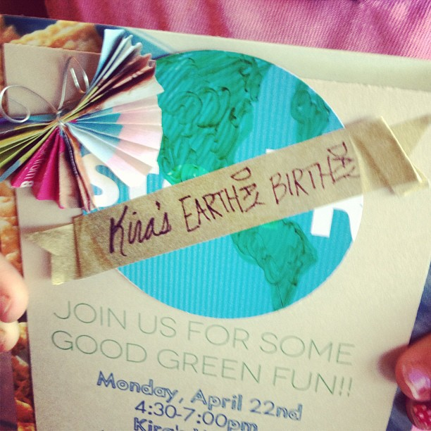 Earth Day Birthday Invitation