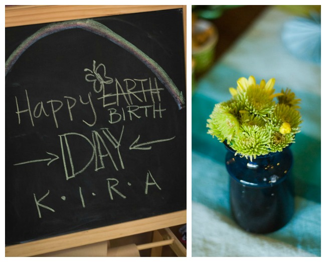 Earthday Birthday decor