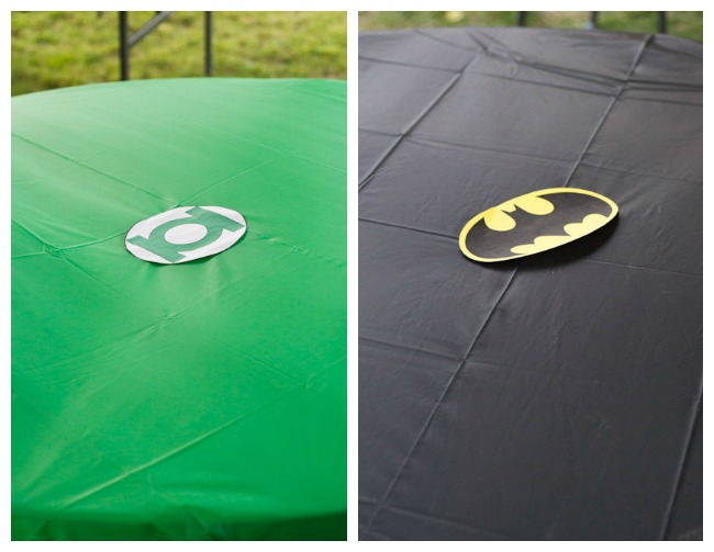 Simple Superhero Tablecloths