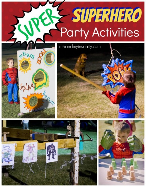 Superhero party activites