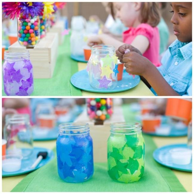 party in a jar lantern