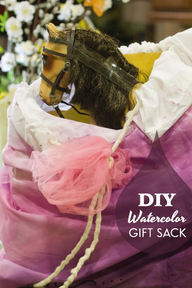 DIY watercolor gift bag for TargetToys