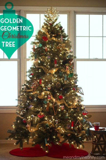Modern Geometric Christmas Tree Hero