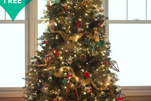 Modern Geometric Christmas Tree Hero