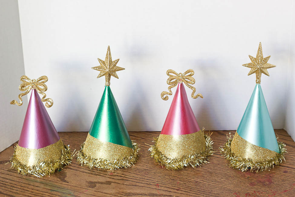 Sparkly Christmas Party Hats-7505