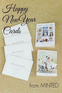 Minted year in review new years cards