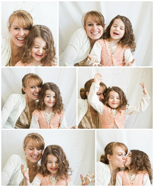 mother daughter sparkle collage