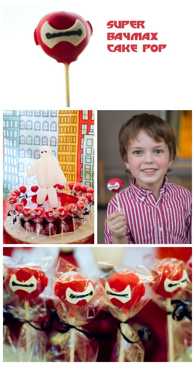 Baymax Cake pop collage