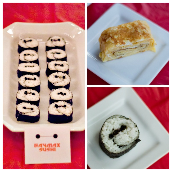 Baymax sushi and Tamago for Big Hero 6 party