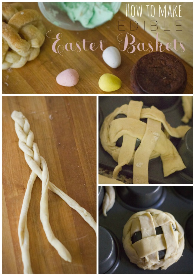 Edible Easter basket how to