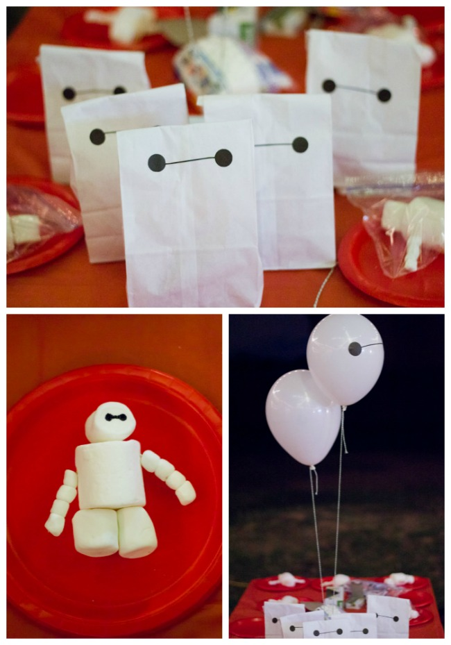 Favors and craft Big Hero 6 party