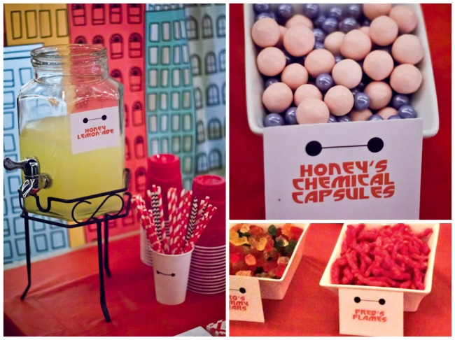 Food for Big Hero 6 party