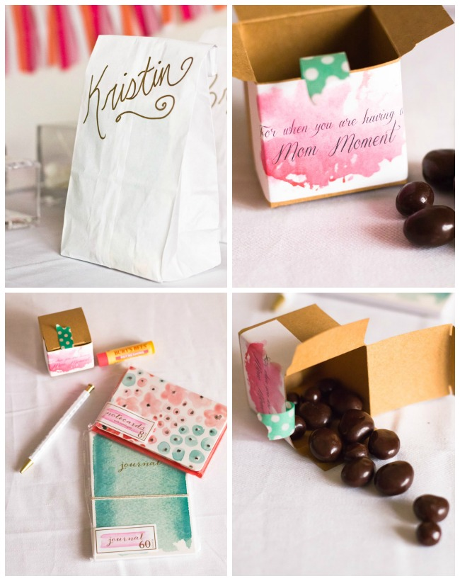 pampering party favors