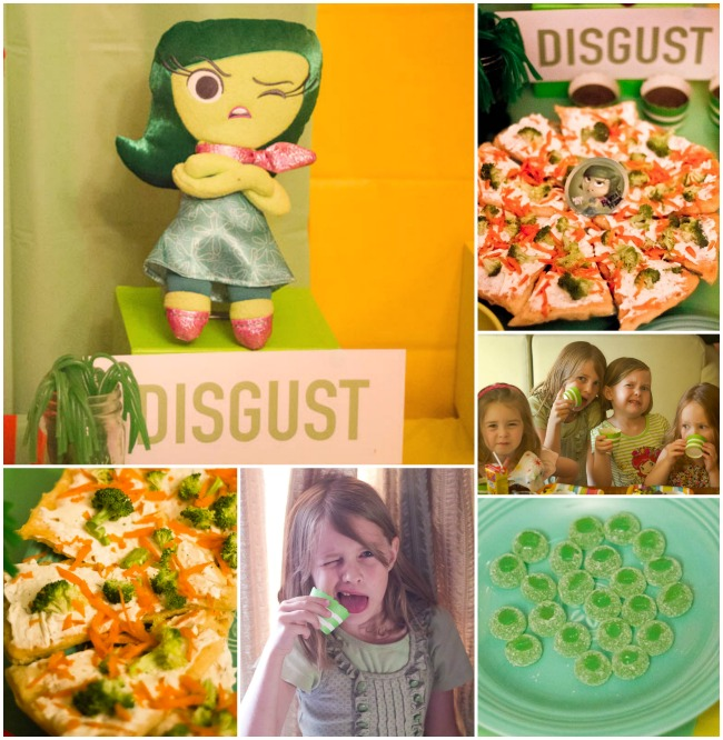 DISGUST fun food INSIDE OUT PARTY