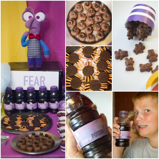 FEAR fun frightening foods INSIDE OUT Party