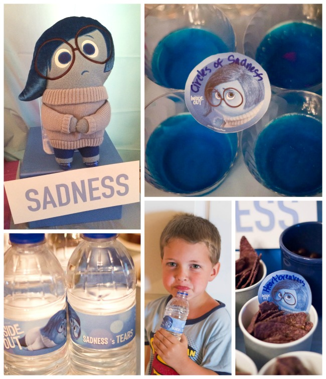 SADNESS fun foods INSIDE OUT PARTY