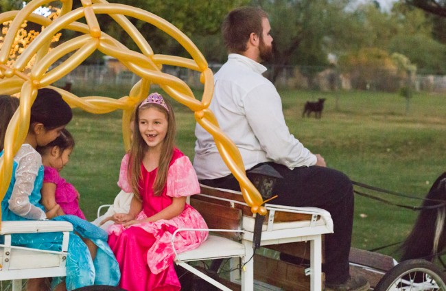 Cinderella party-carriage ride.