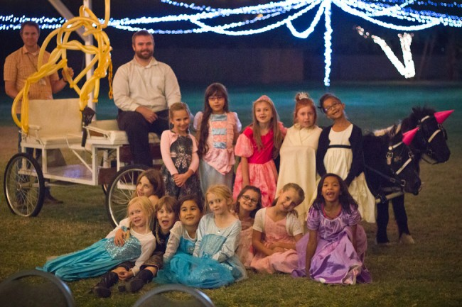 Cinderella party-princesses and the pumpkin pony ride