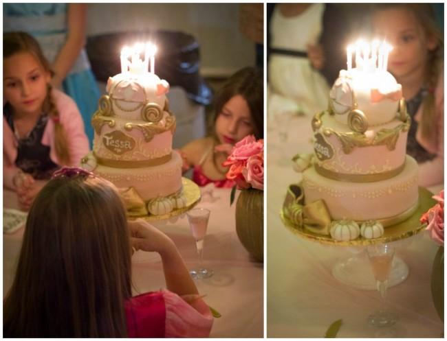 Cinderella cake candles