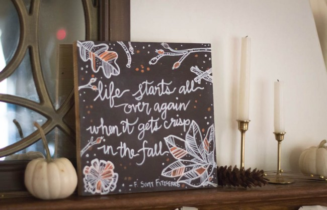 Freshen Up for Fall Mantle -0476