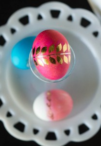 Glam Easter Eggs with Metallic Tattoos