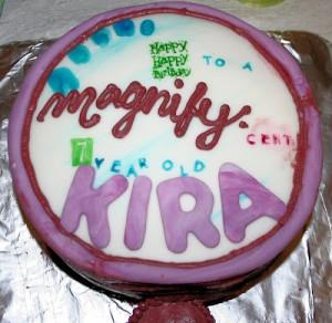 Nancy Drew Party–Magnifying Glass Cake