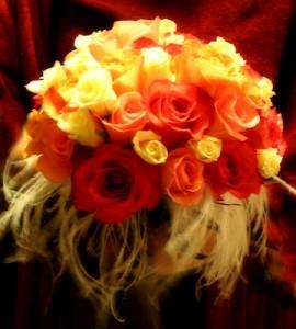 Fabulous Feathers–Wedding Flowers