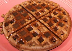 Festive Fall Breakfast-Pumpkin Waffles with Buttermilk Syrup