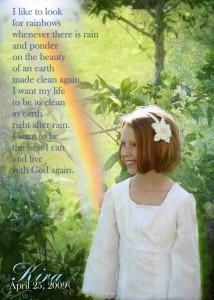 Eyelet and Rainbows–Kira's 8th Birthday and Baptism Celebration