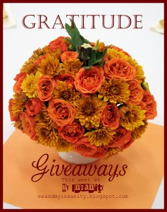 Gratitude Giveaways–Thanksgiving Week