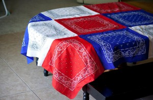 Patriotic Bandana Tablecloth