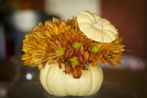 Individual Pumpkin Flower Arrangement