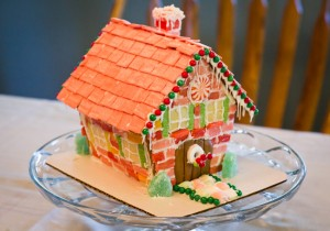 A Brick Gingerbread House