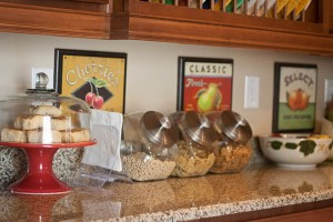 Cereal Station and Fruit Art