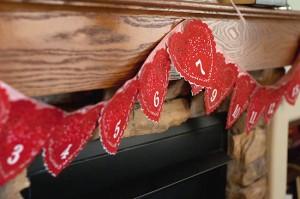 Valentine's Day Advent Banner