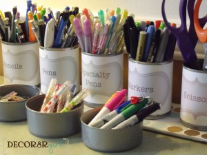 Containing the Craft and Office Supplies