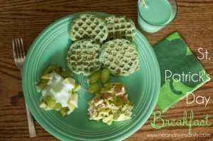 Green Breakfast for St. Patrick's Day
