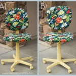 Colorful  Office Chair Makeover