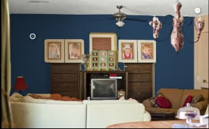 Virtual Family Room Focal Wall